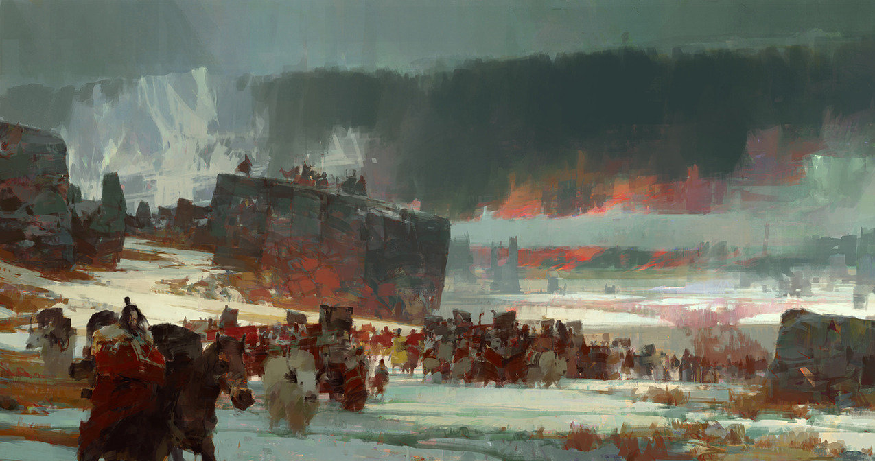 theo prins digital painting concept art guild wars 2 Flame and Frost