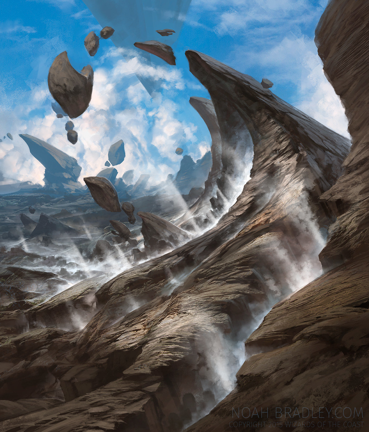 Noah Bradley Digital Painting Illustration Steam Vents