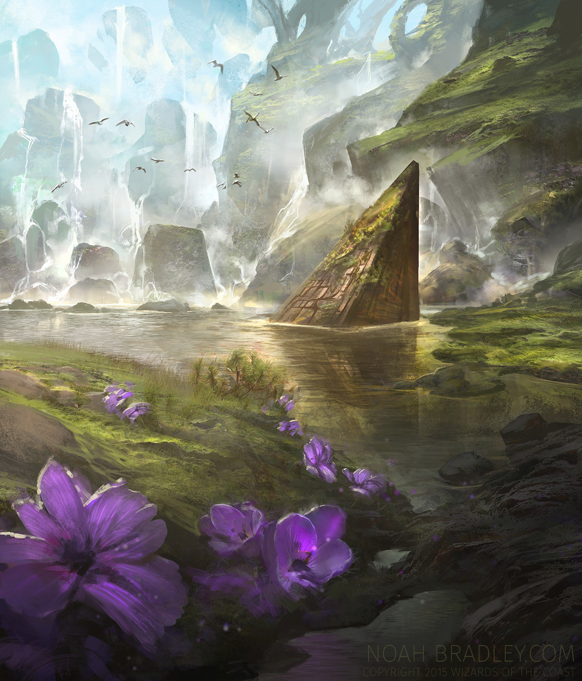 Noah Bradley Digital Painting Illustration Breeding Pool