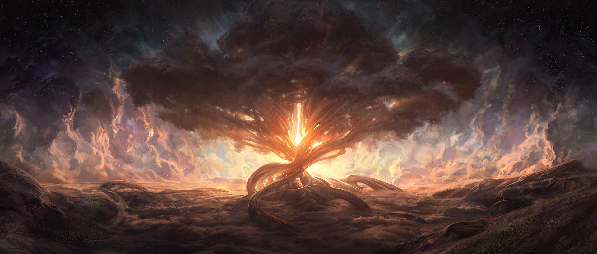 Noah Bradley Digital Painting Illustration Ein Sof