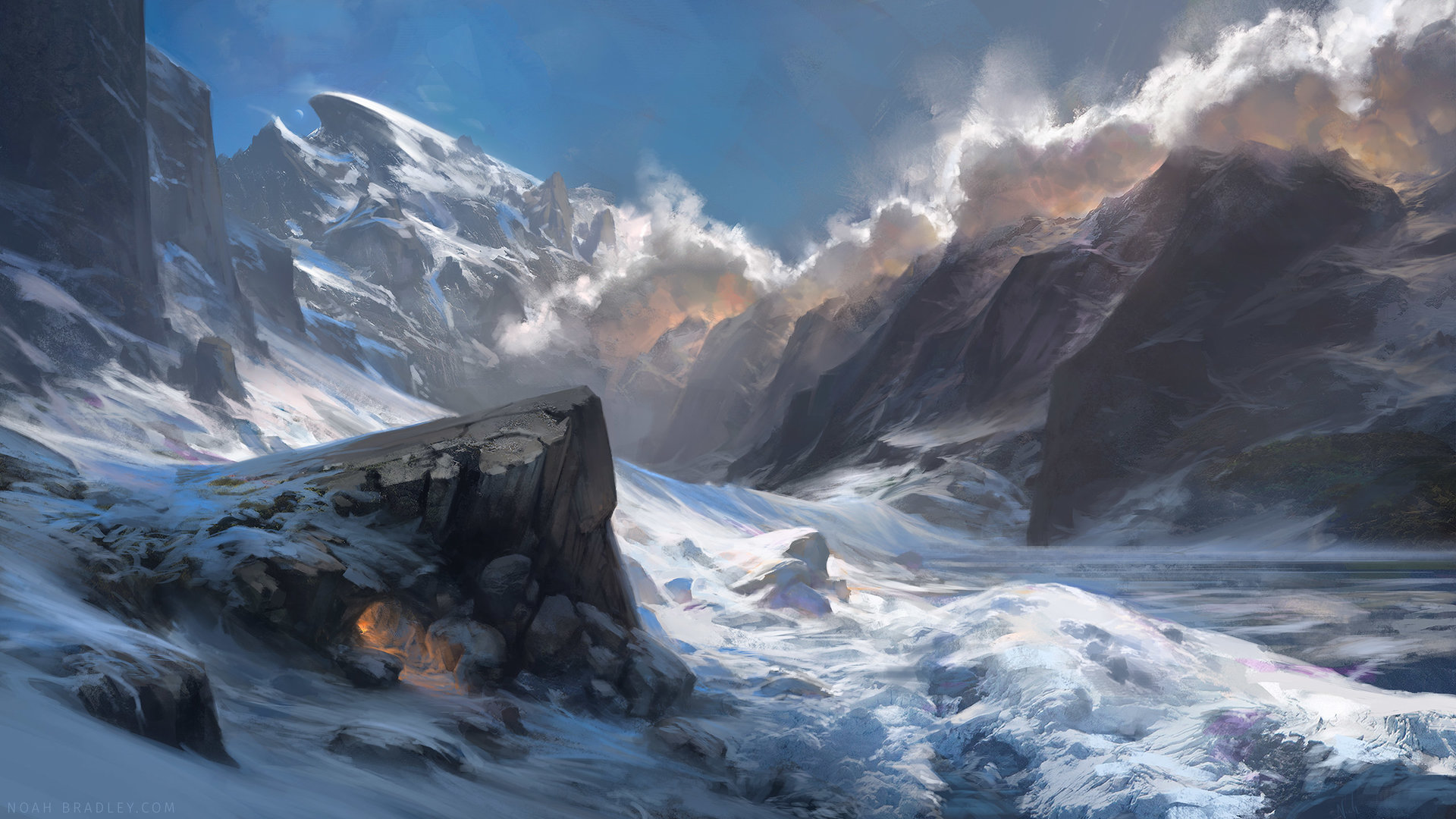 Noah Bradley Digital Painting Illustration A Place to Call Home