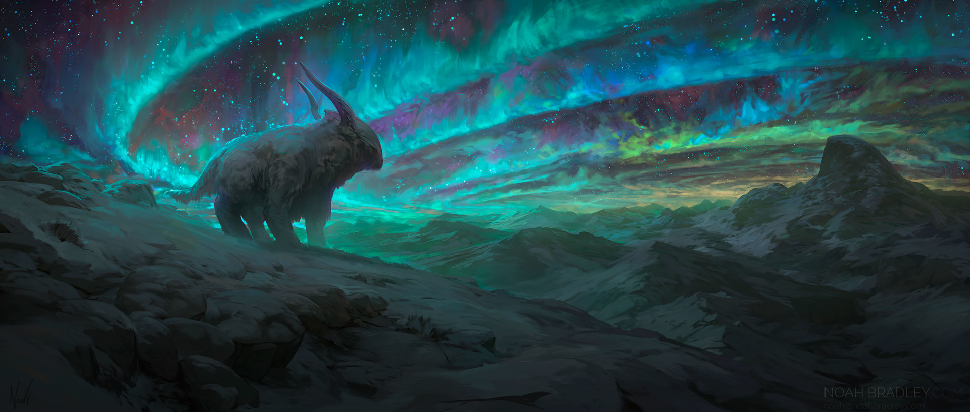 Noah Bradley Digital Painting Illustration Echoes of Another Life