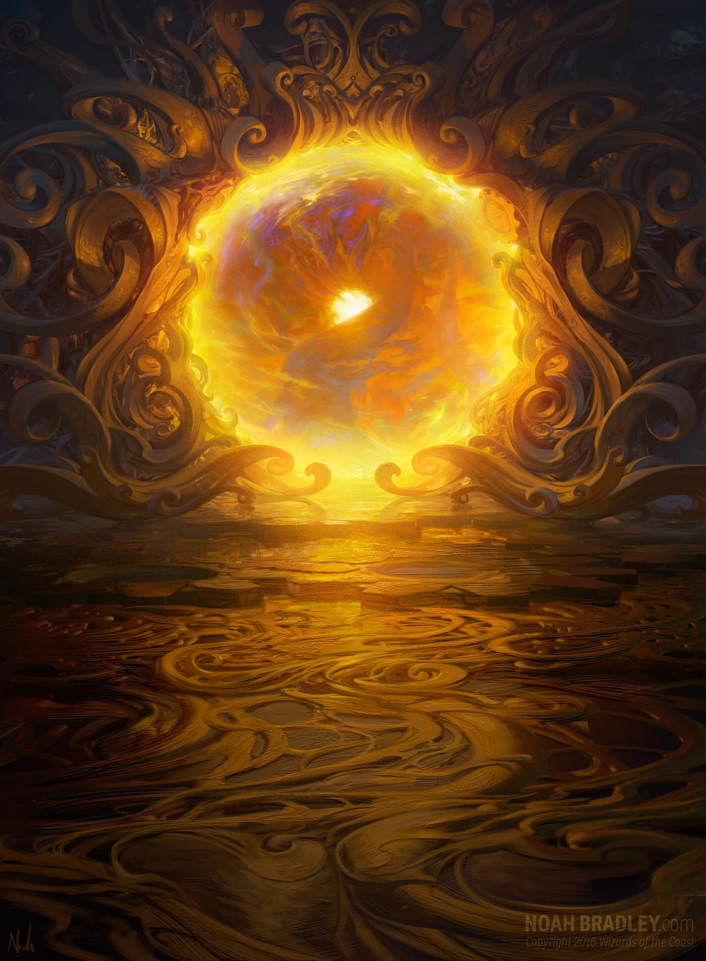 Noah Bradley Digital Painting Illustration gate