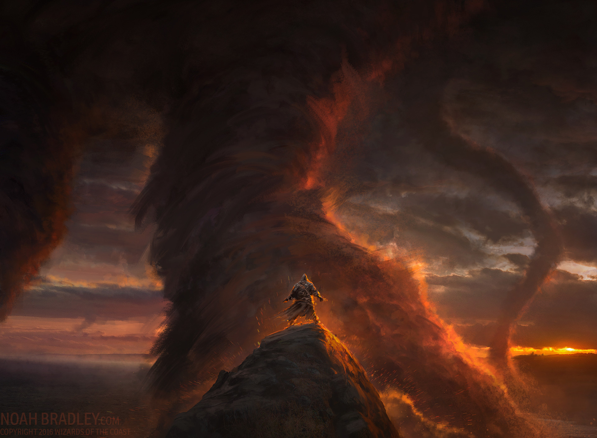 Noah Bradley Digital Painting Illustration Behold the Beyond