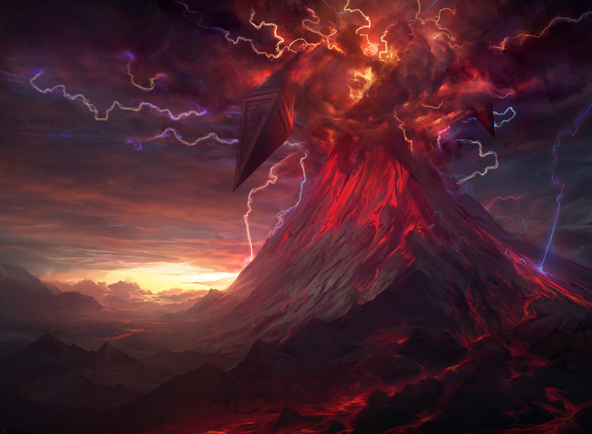 Noah Bradley Digital Painting Illustration Tears of Valakut