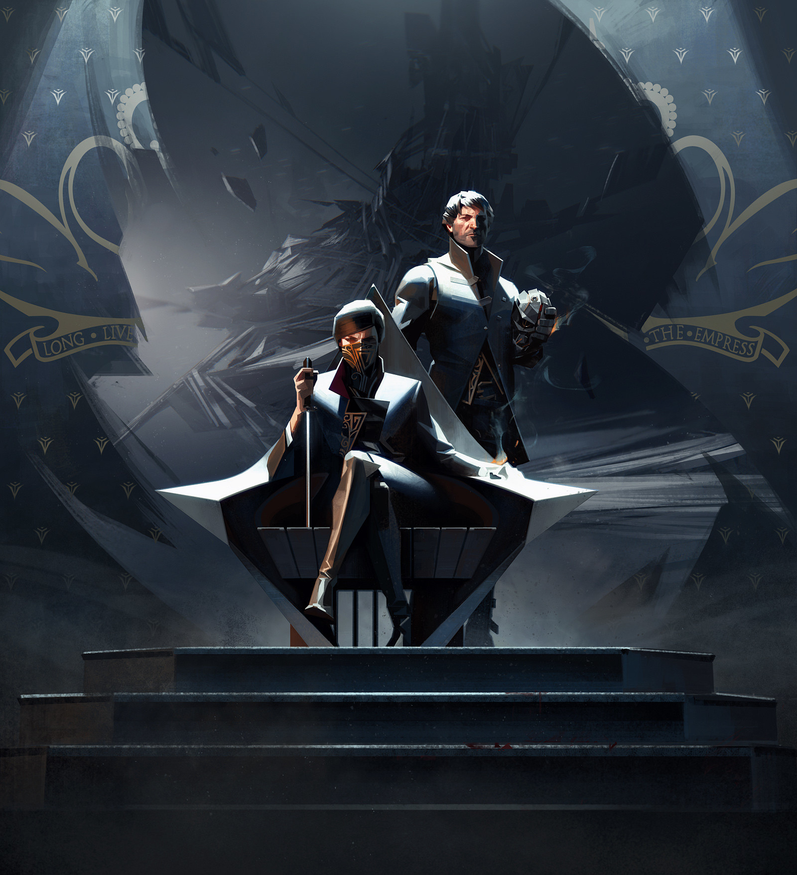 Sergey Kolesov Digital Painting Concept Art Dishonored 2 Throne