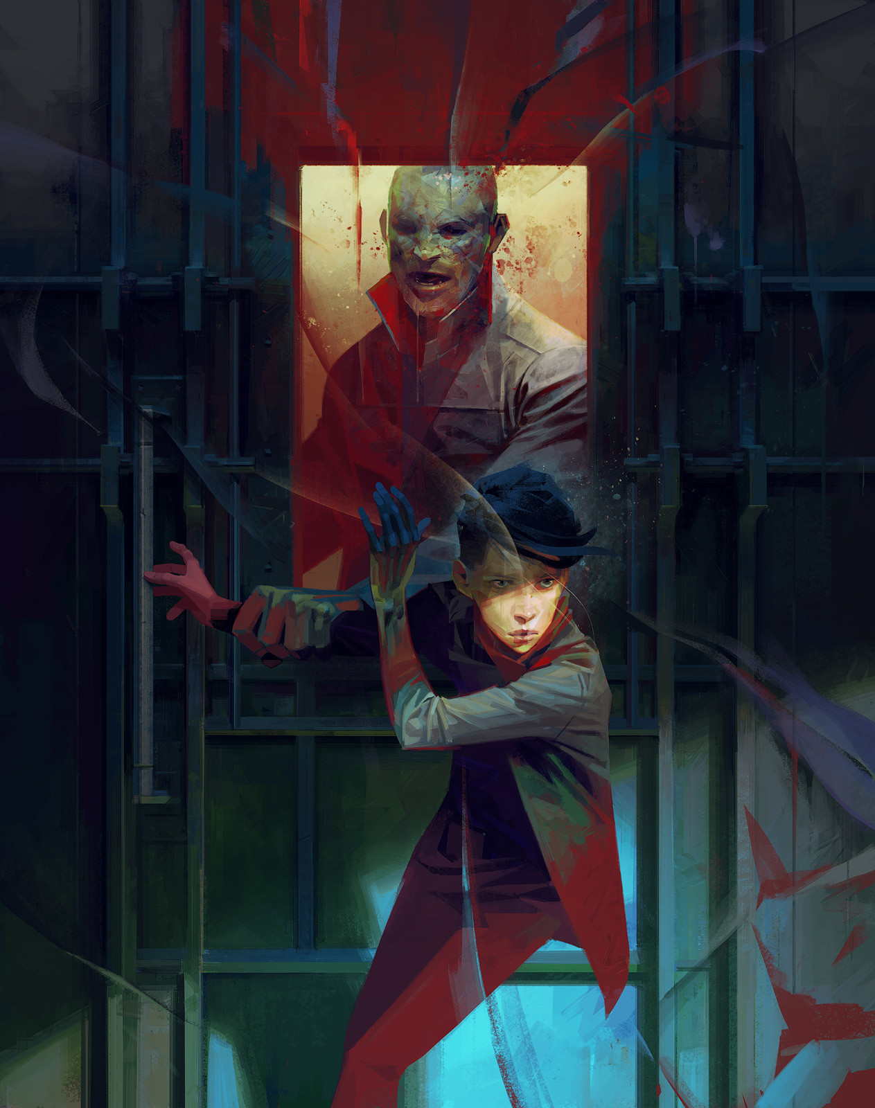 Sergey Kolesov Digital Painting Concept Art Dishonored 2 Painting Delilah motives
