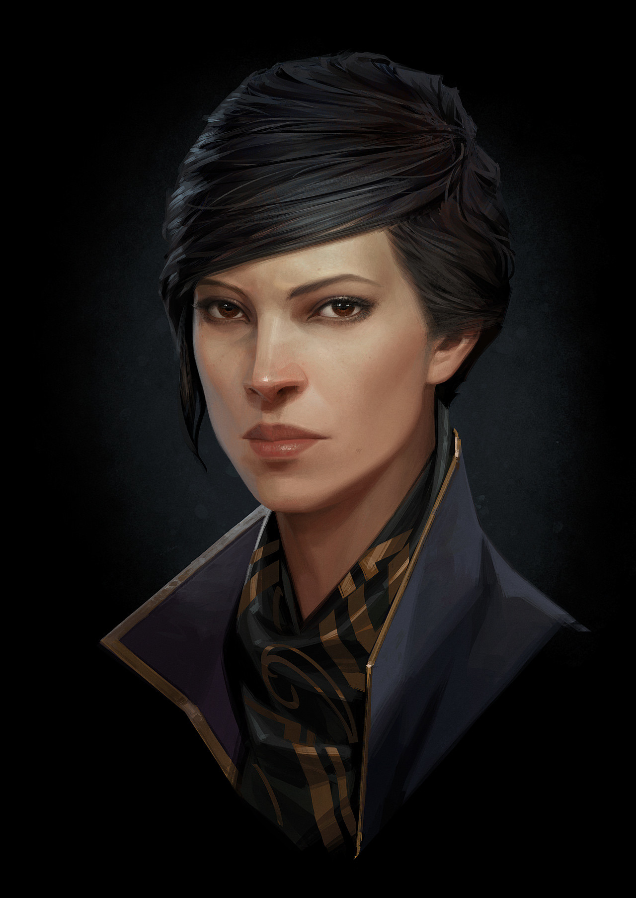 Sergey Kolesov Digital Painting Concept Art dishonored 2 Emily Portrait
