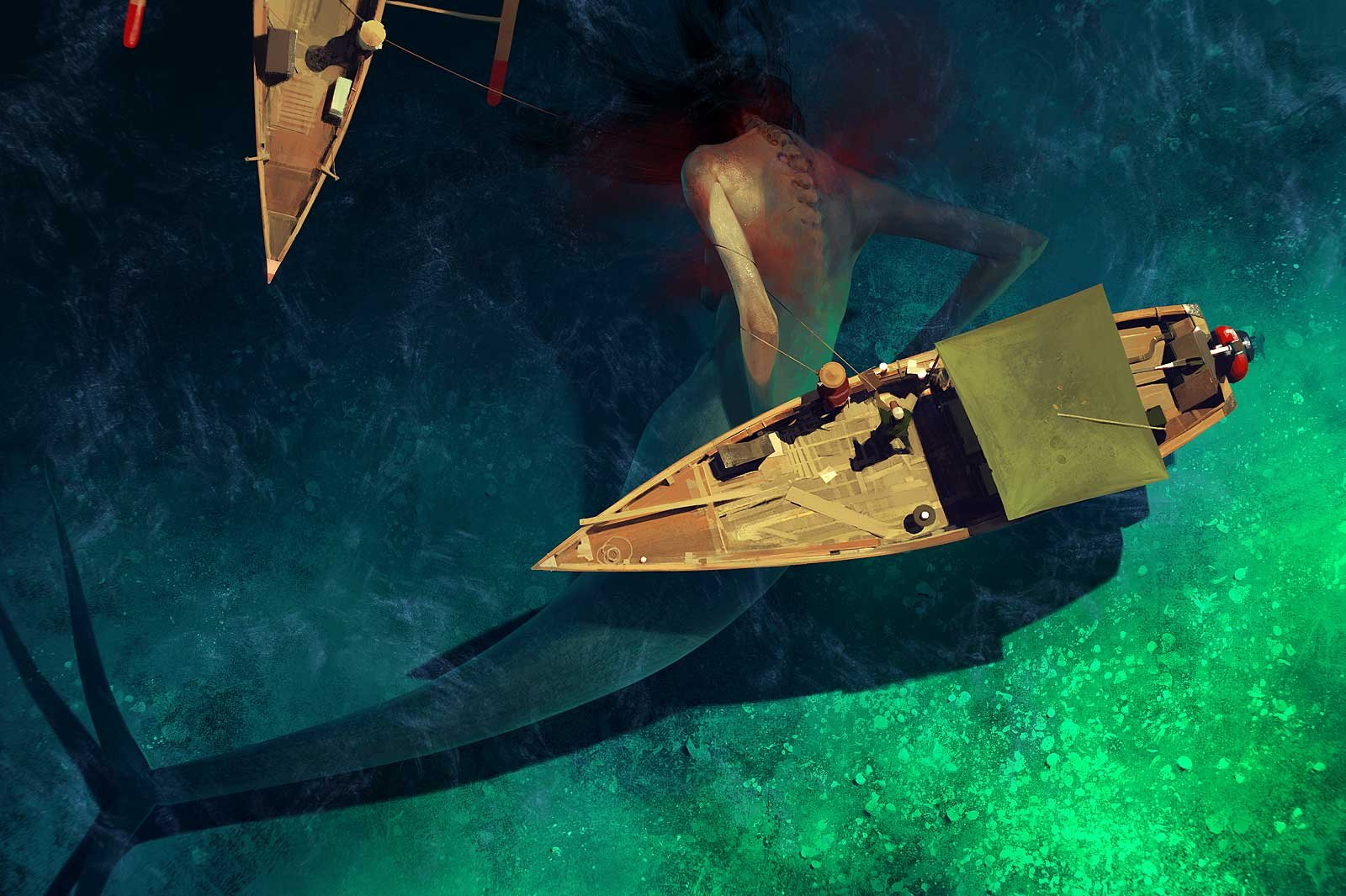 Sergey Kolesov Digital Painting Illustration Personal Work Big Mermaid
