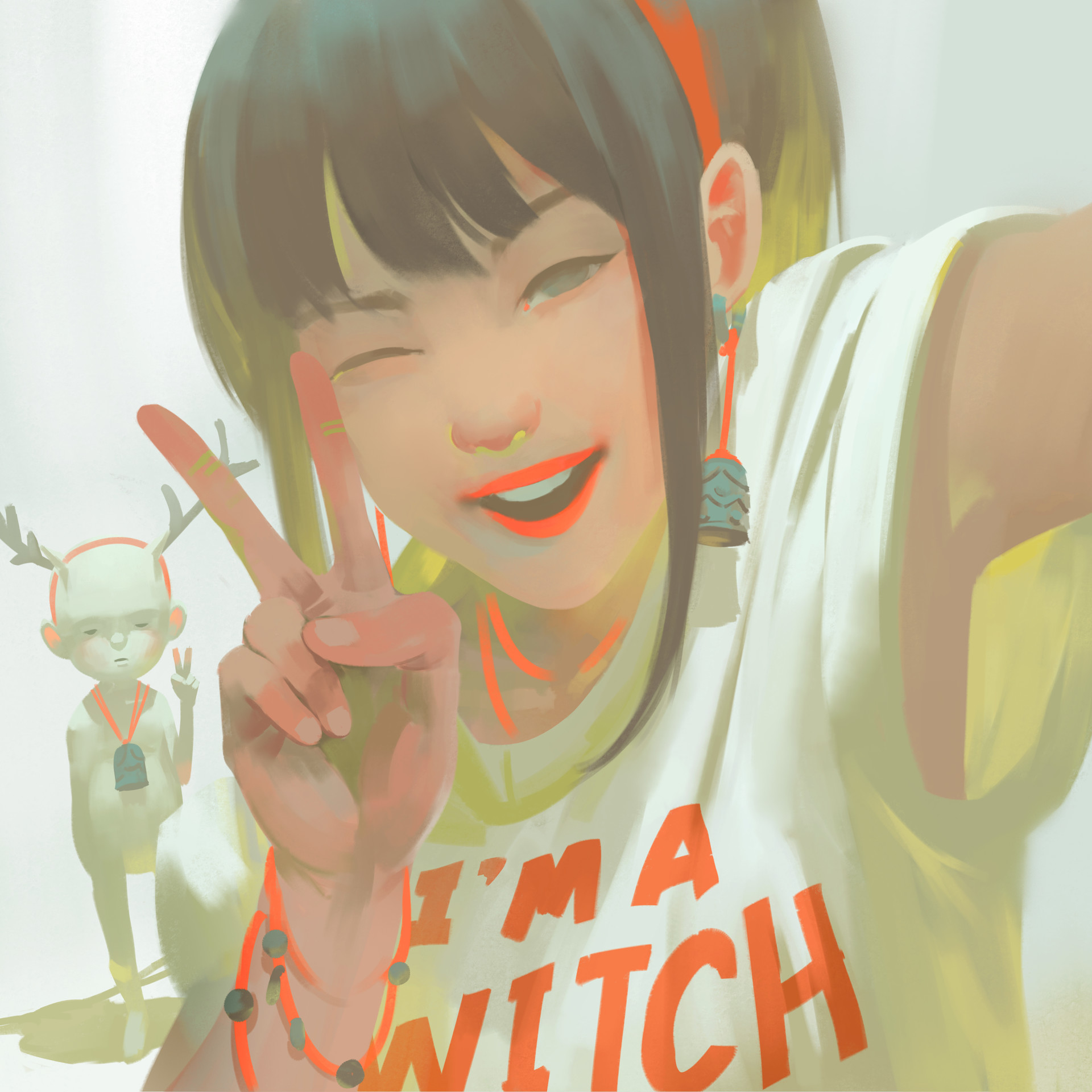Zeen Chin Digital Painting Illustration I'm witch Portrait