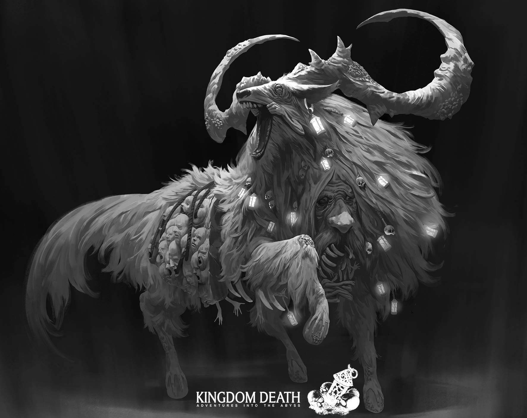 Zeen Chin Digital Painting Illustration concept art Kingdom Death creatures 1