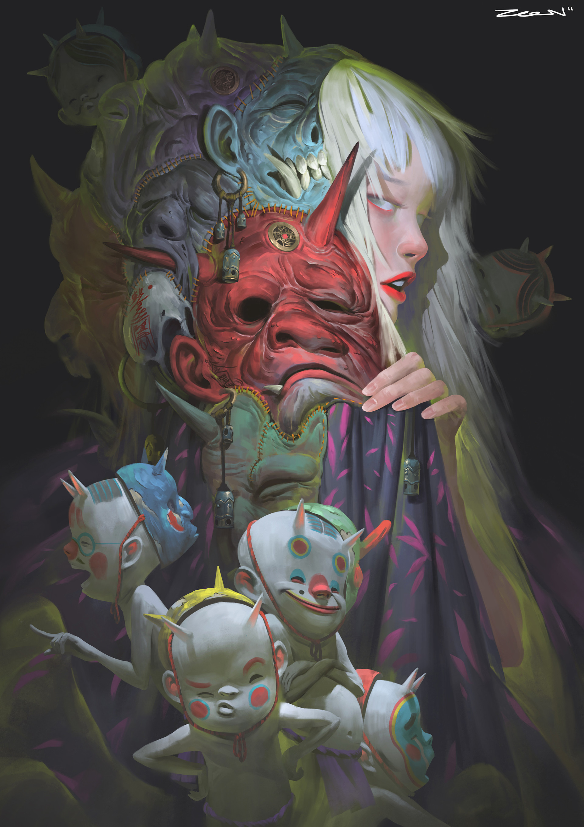 Zeen Chin Digital Painting Illustration Disguise