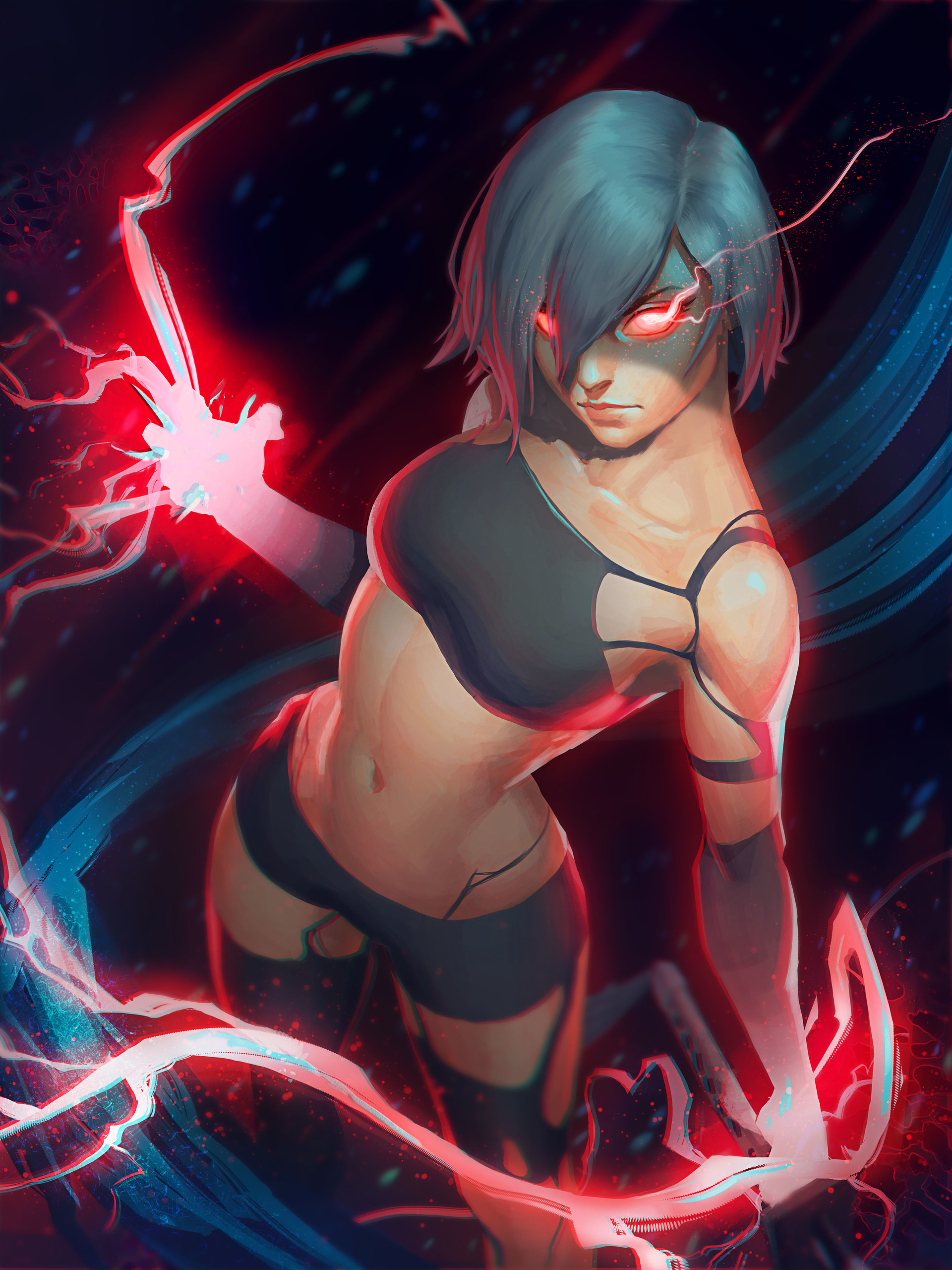 jeremy_anninos_digital_painting_illustration_character_warrior_nier_automata