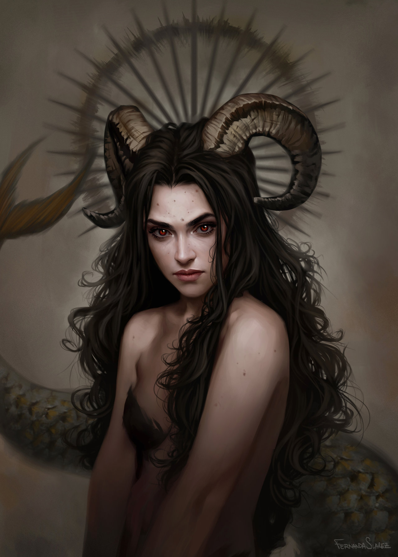 Fernanda_Suarez_digital_painting_illustration_portrait_mythology