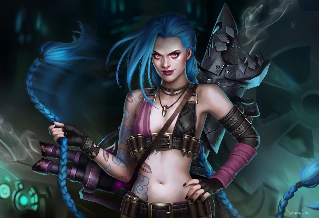 Fernanda_Suarez_digital_painting_illustration_leagueoflegends_jinx