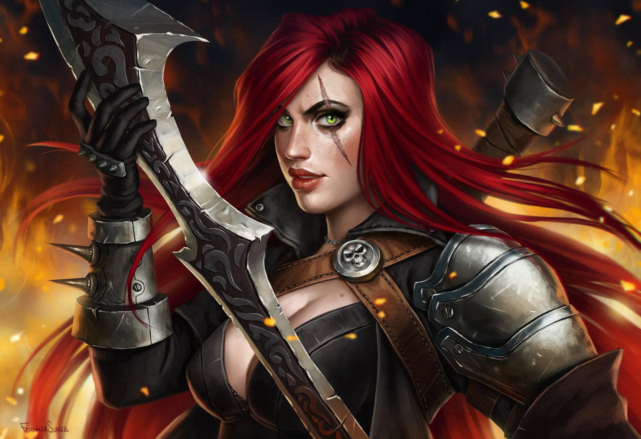 Fernanda_Suarez_digital_painting_illustration_leagueoflegends_katarina