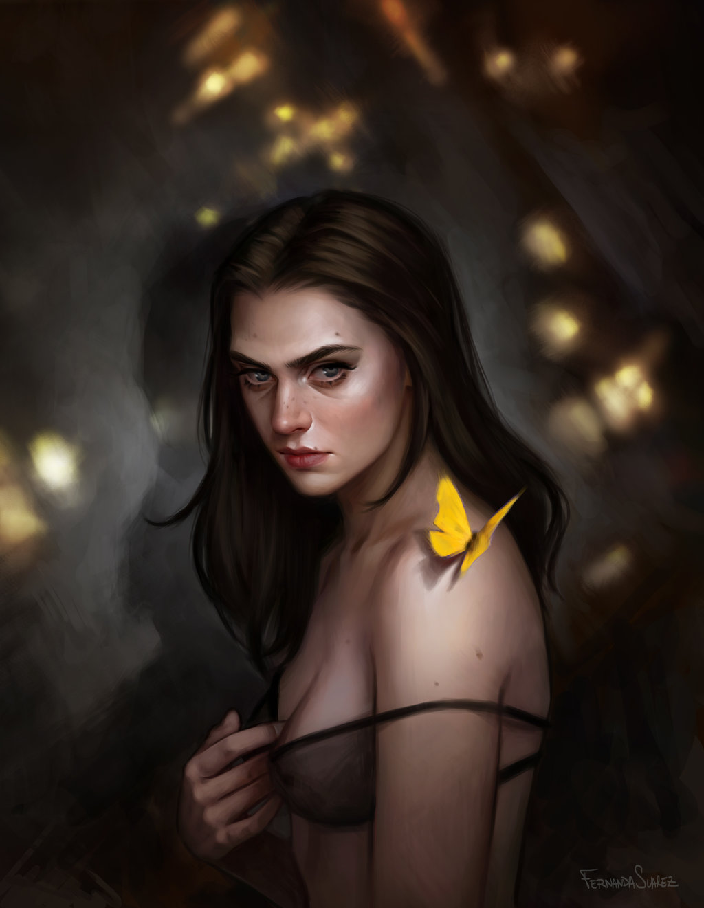 Fernanda_Suarez_digital_painting_illustration_portrait_butterfly