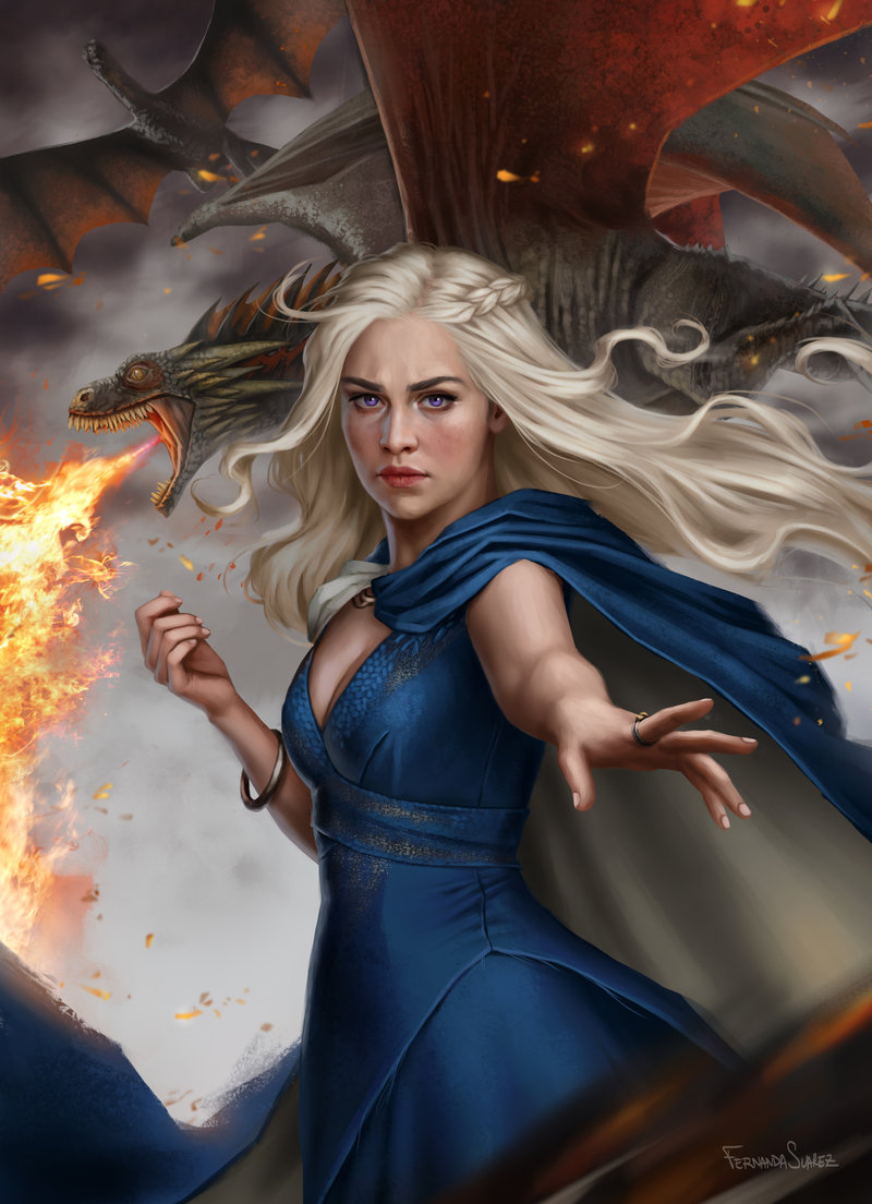 Fernanda_Suarez_digital_painting_illustration_daenerys_gameofthrones