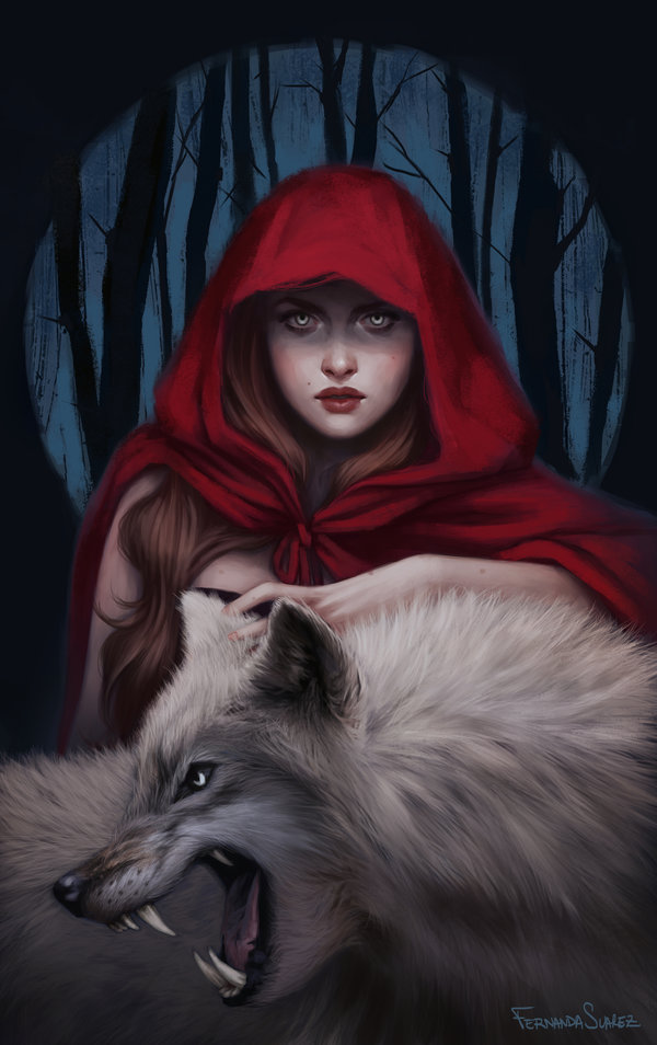 Fernanda_Suarez_digital_painting_illustration_fantasy_redridinghood