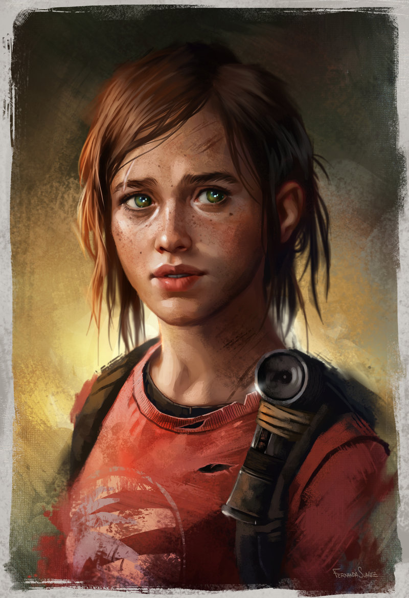 Fernanda_Suarez_digital_painting_illustration_ellie_thelastofus_portrait