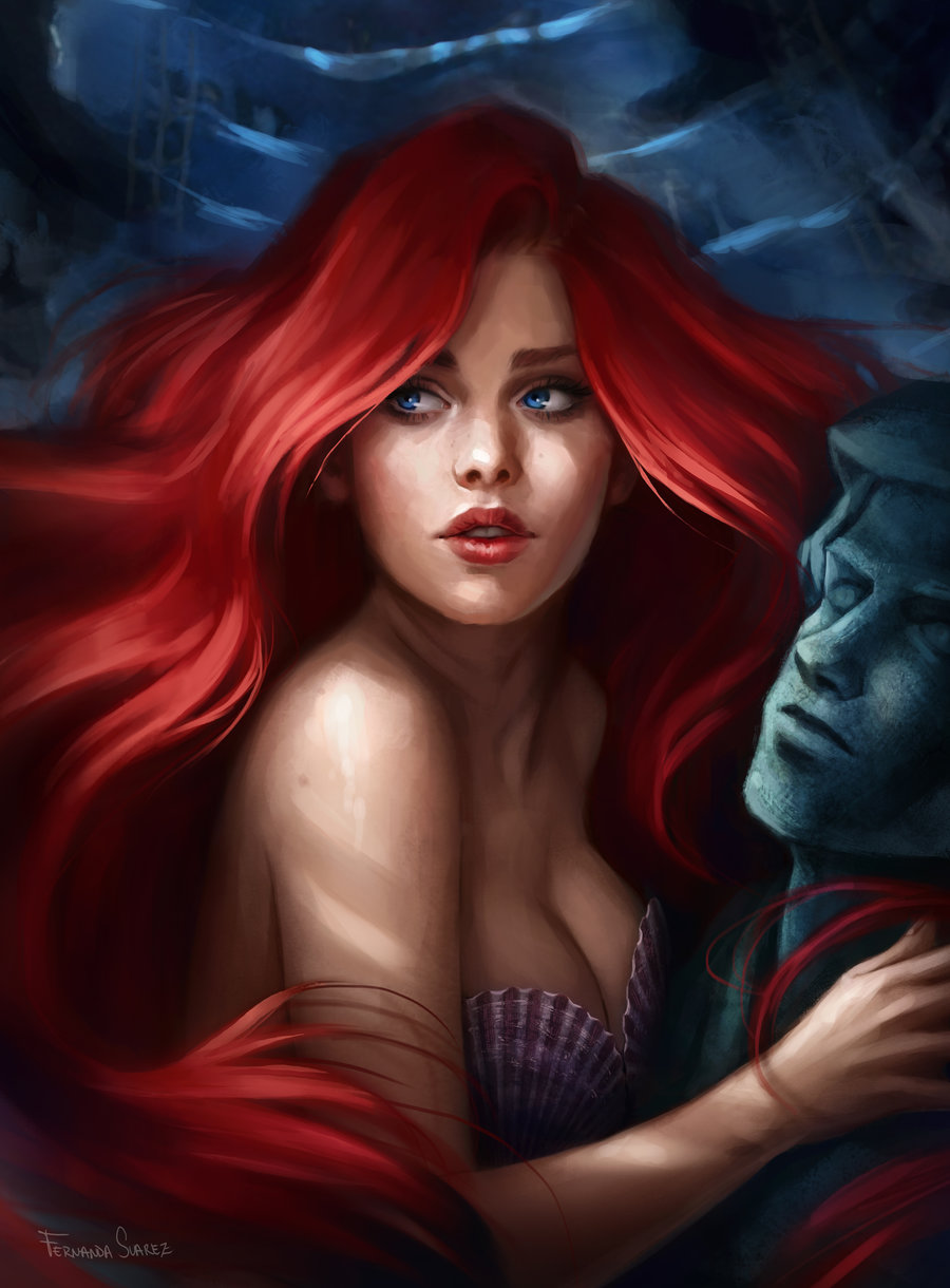 Fernanda_Suarez_digital_painting_illustration_ariel_mermaid_portrait
