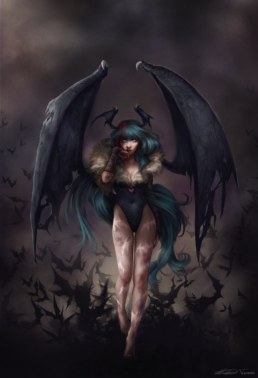 Fernanda_Suarez_digital_painting_illustration_capcom_morrigan