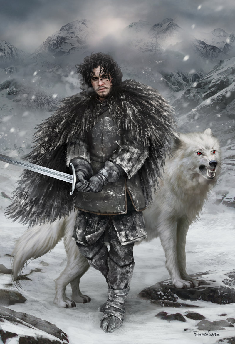 Fernanda_Suarez_digital_painting_illustration_character_jonsnow_gameofthrones