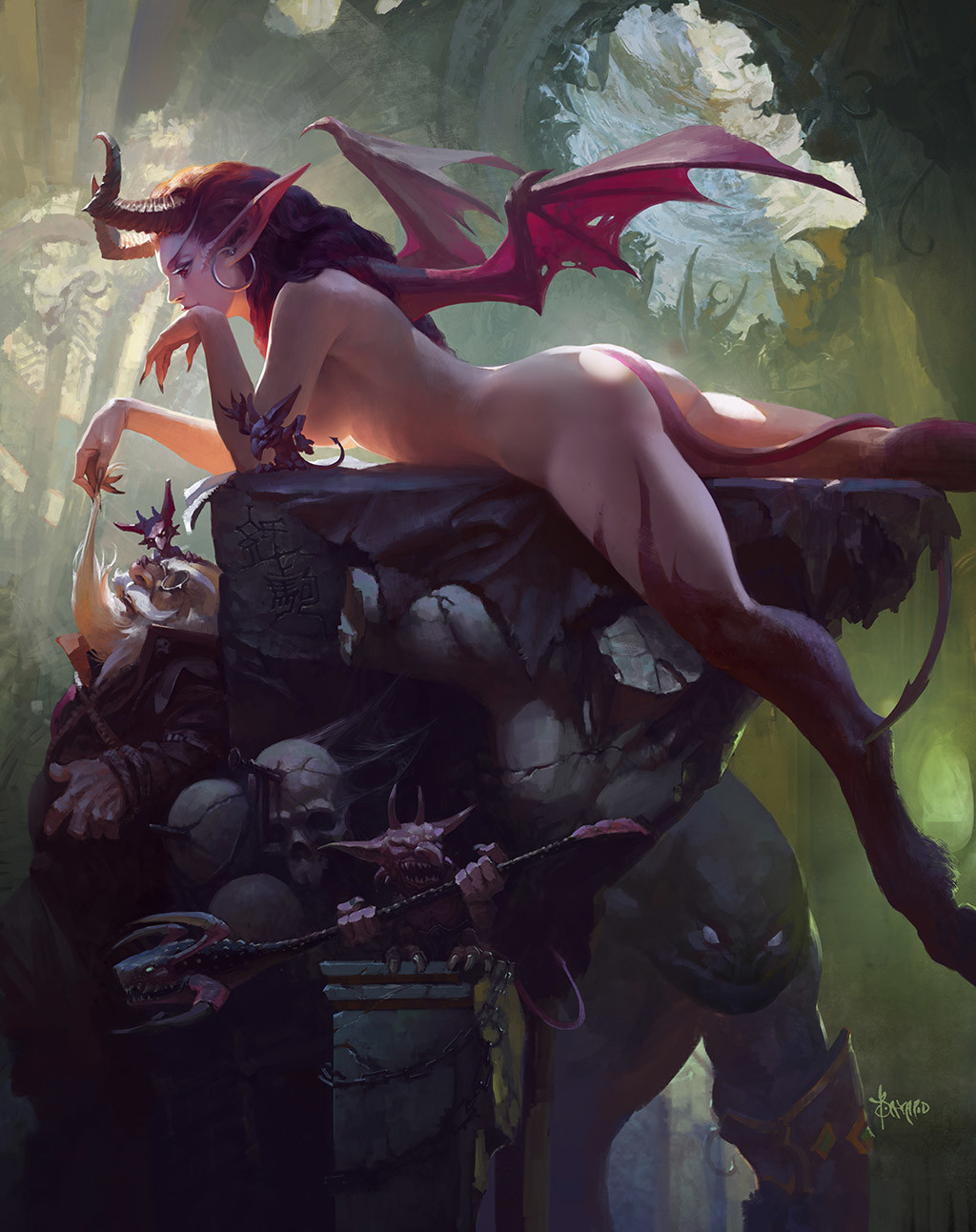 Bayard Wu Digital Painting Illustration Fantasy Succubus Demon