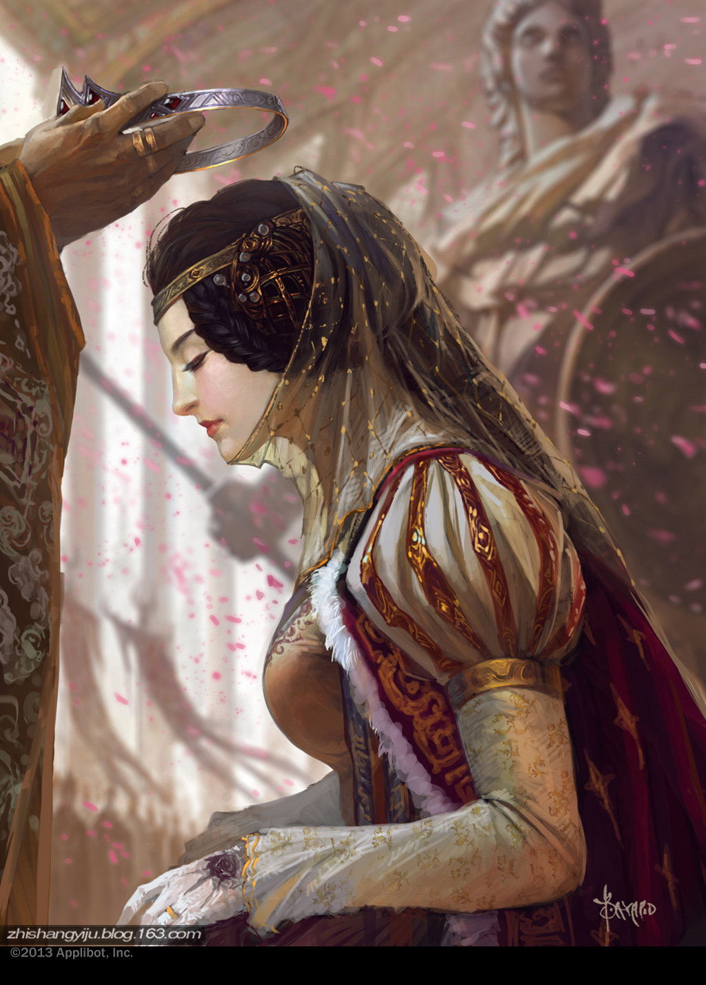 Bayard Wu Digital Painting Illustration Fantasy Crown First Lady