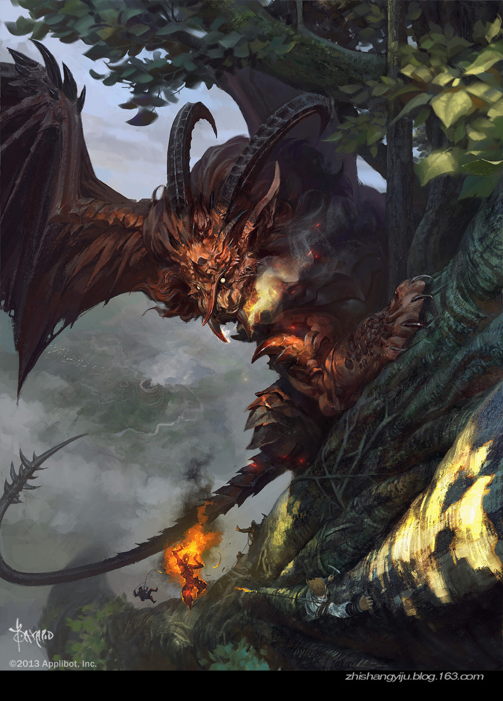 Bayard Wu Digital Painting Illustration Fantasy Manticore Creature