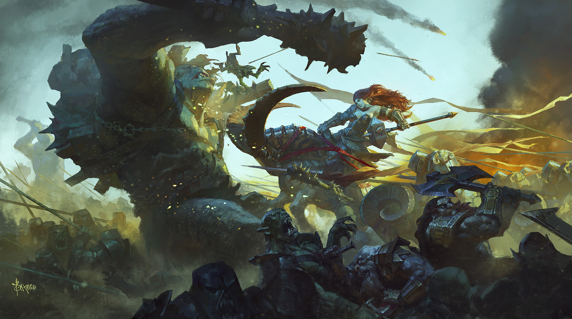 Bayard Wu Digital Painting Illustration Fantasy Hammer Ram Legion