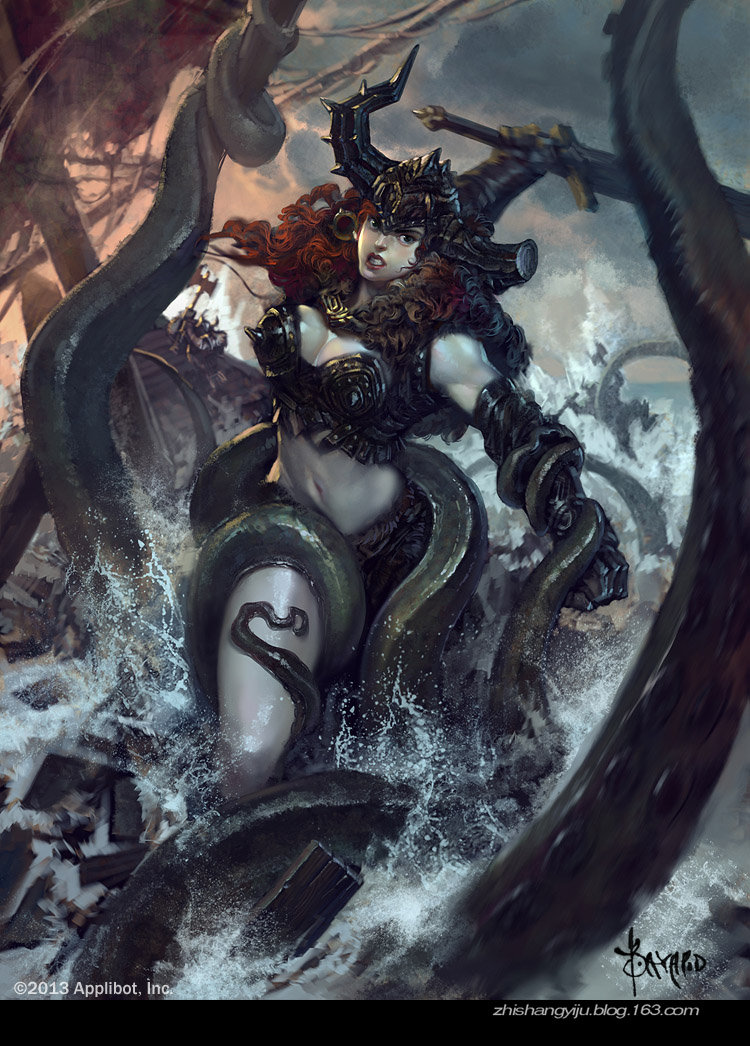 Bayard Wu Digital Painting Illustration Fantasy Viking