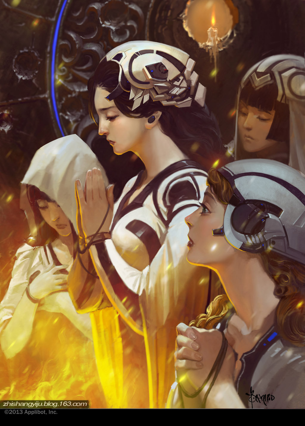 Bayard Wu Digital Painting Illustration Fantasy Prayer