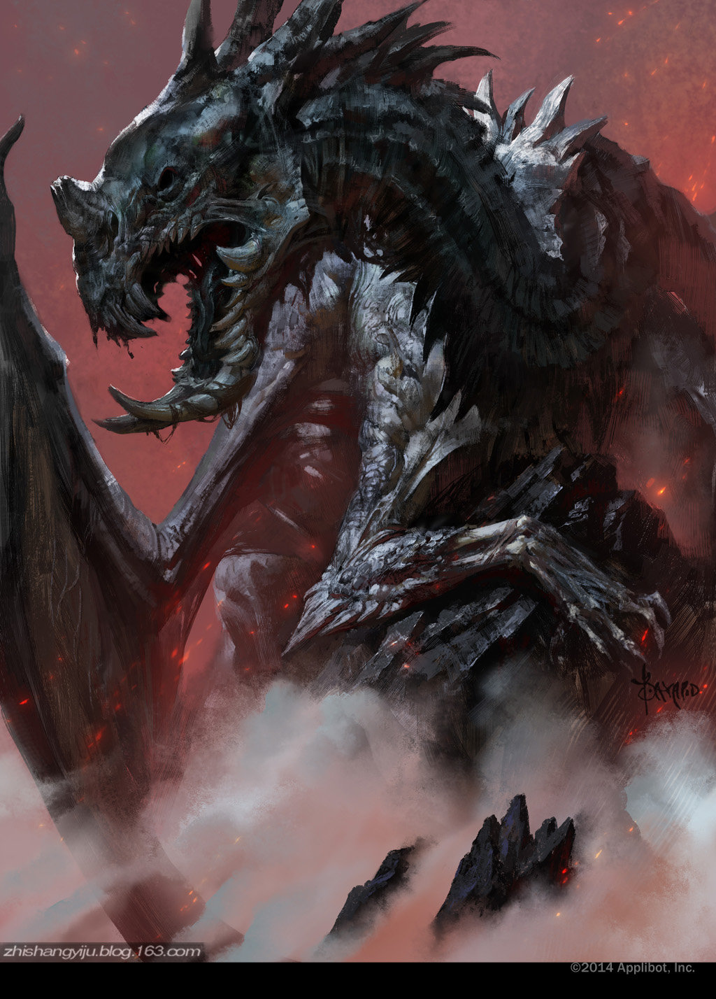 Bayard Wu Digital Painting Illustration Fantasy Dragon Corrupt