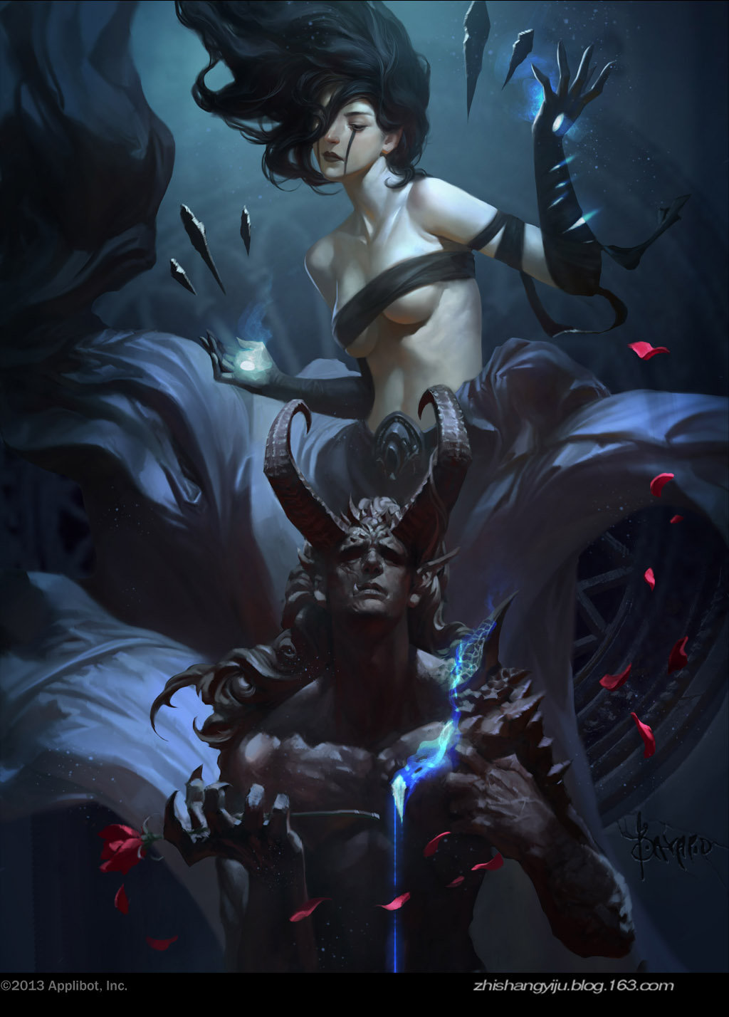 Bayard Wu Digital Painting Illustration Fantasy Demon Love