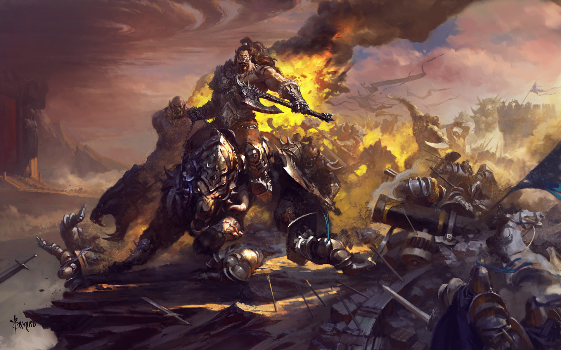 Bayard Wu Digital Painting Illustration Fantasy Warcraft Orc