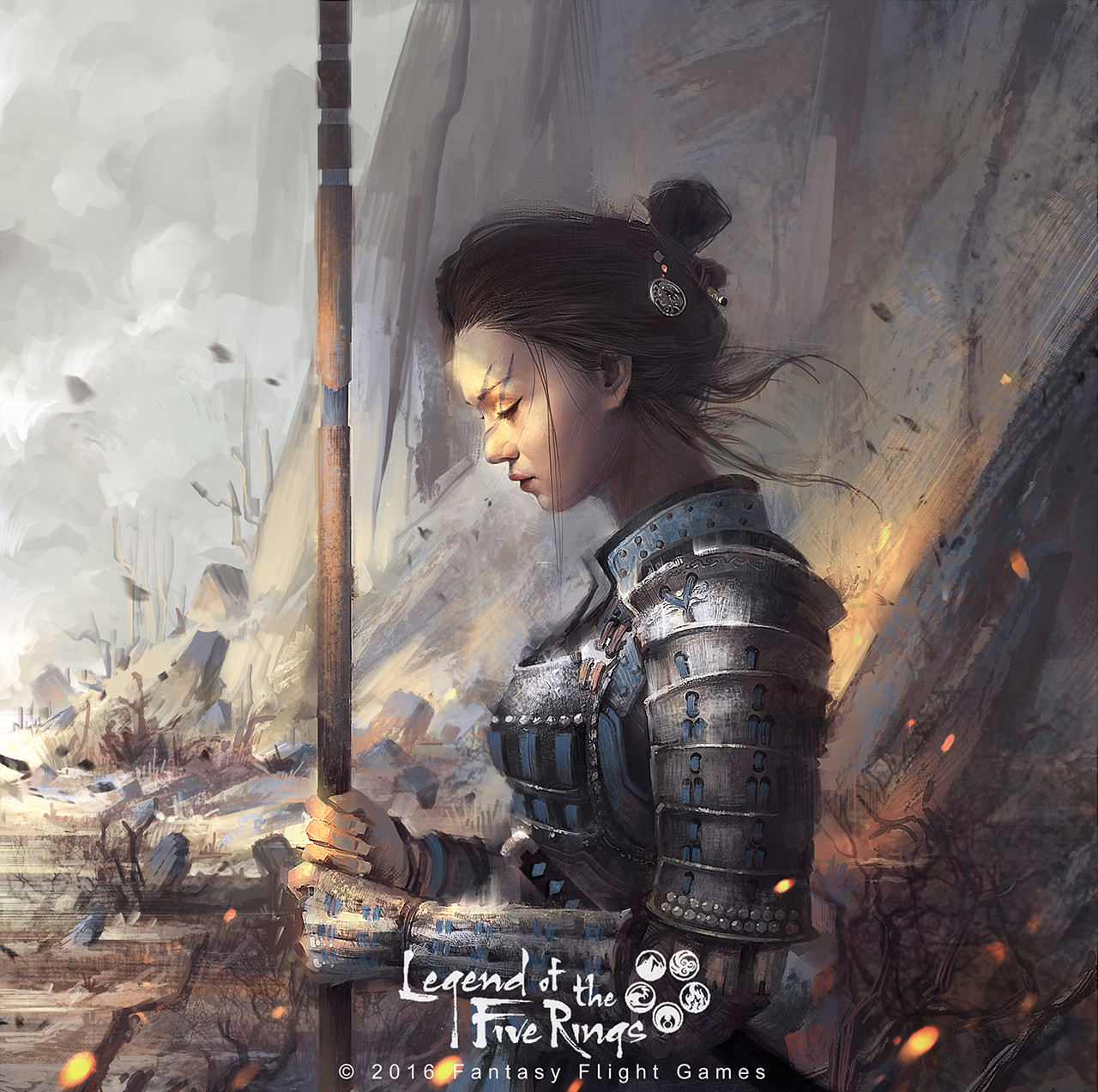 le vuong digital painting illustration Legend of the five Rings BORDERLANDS DEFENDER