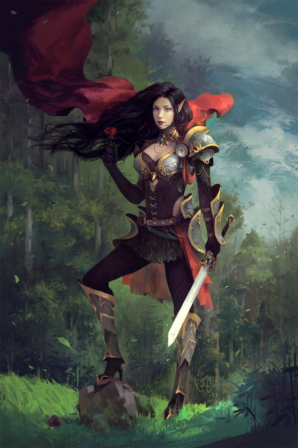 le vuong digital painting illustration Elf Adalyne