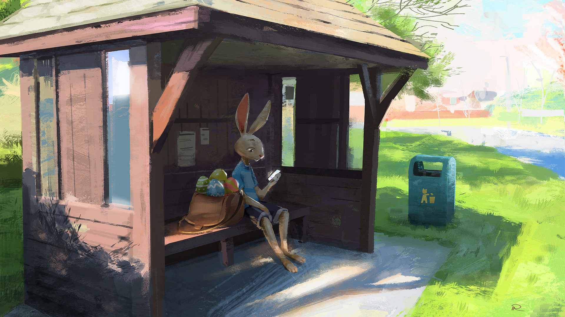 Perry Allen Digital Painting Illustration Part Time Job