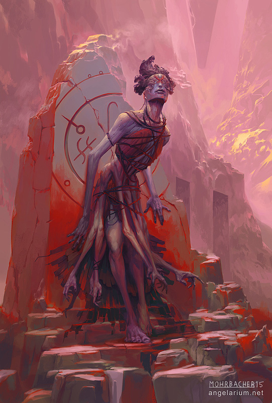 peter mohrbacher digital painting illustration Armaros angel of Undoing