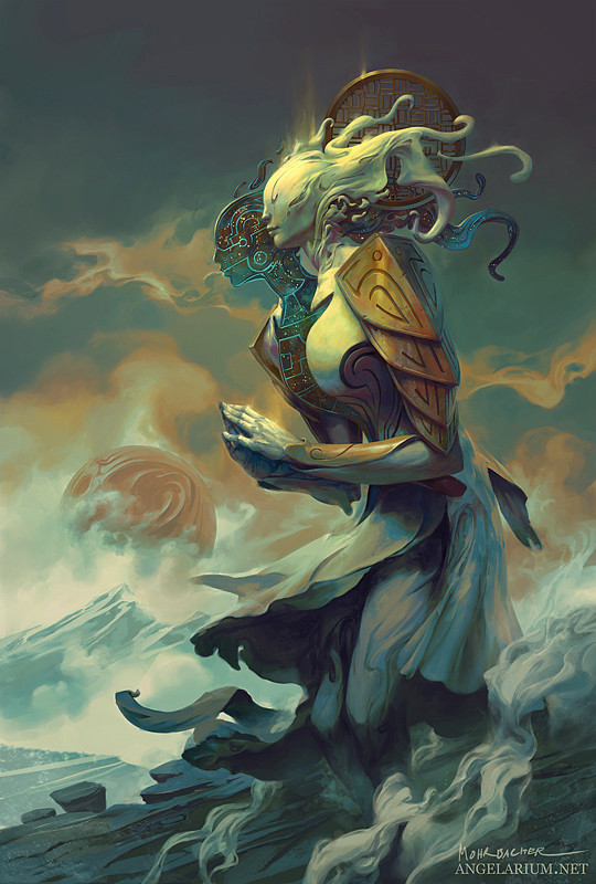 peter mohrbacher digital painting illustration Ambriel Angel of Gemini