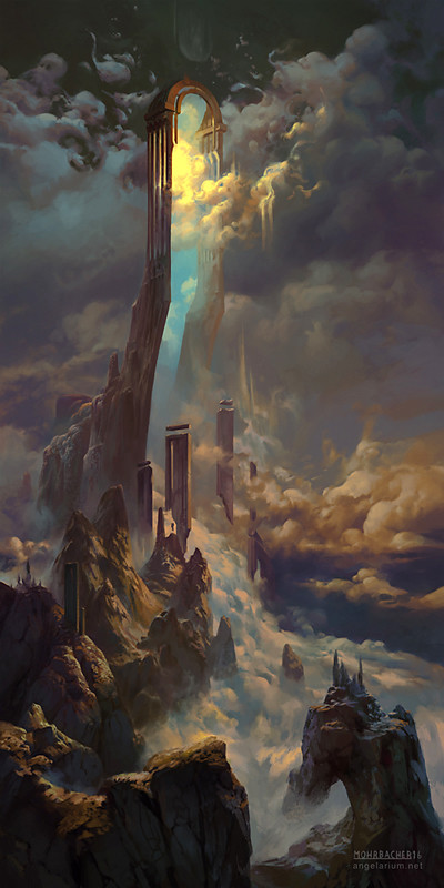 peter mohrbacher digital painting illustration The Gate of Sahaqiel