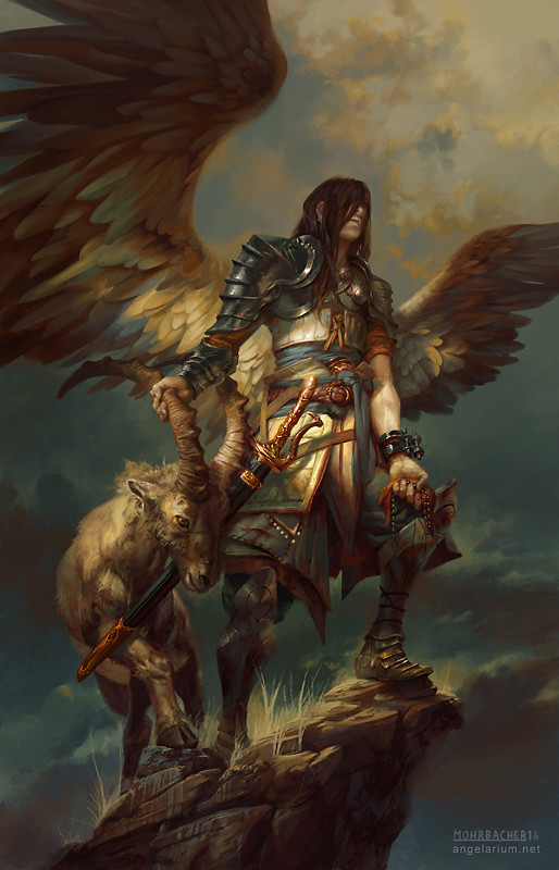 peter mohrbacher digital painting illustration Azazel Angel of Sacrifices