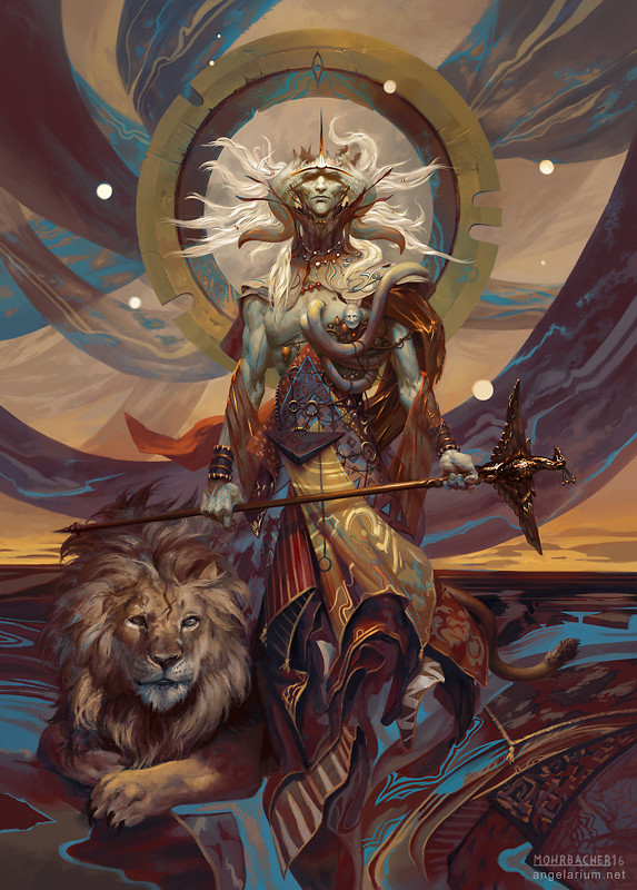 peter mohrbacher digital painting illustration Samyaza Angel of Pride