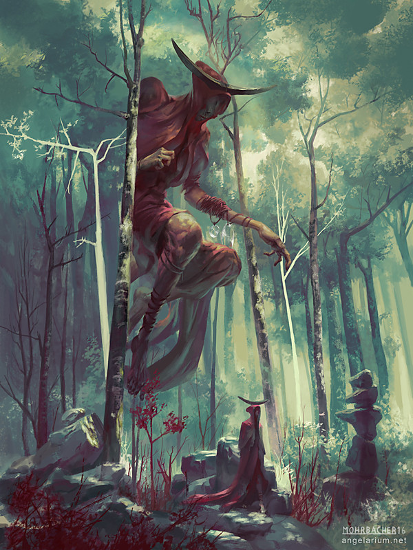 peter mohrbacher digital painting illustration Bezaliel Angel of Shadow