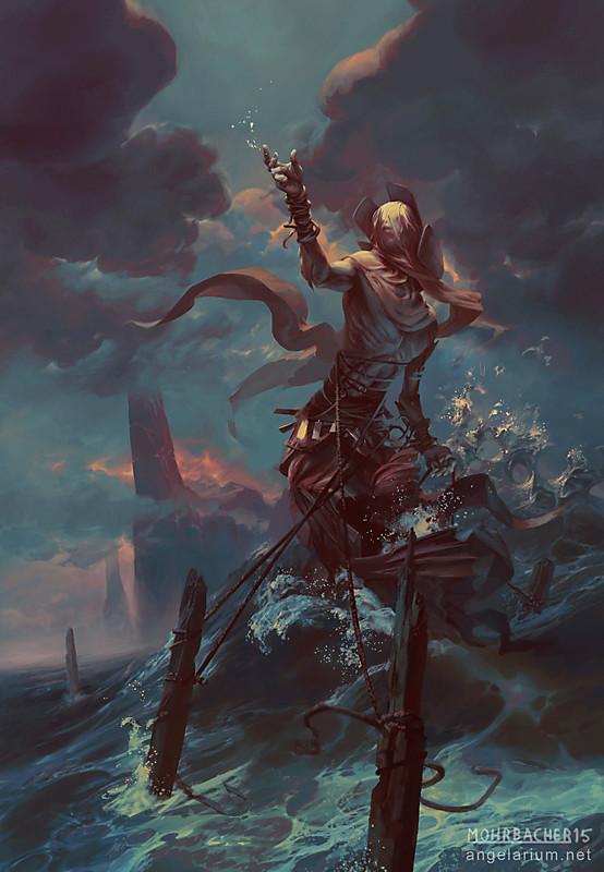 peter mohrbacher digital painting illustration Ananiel Angel of Storms