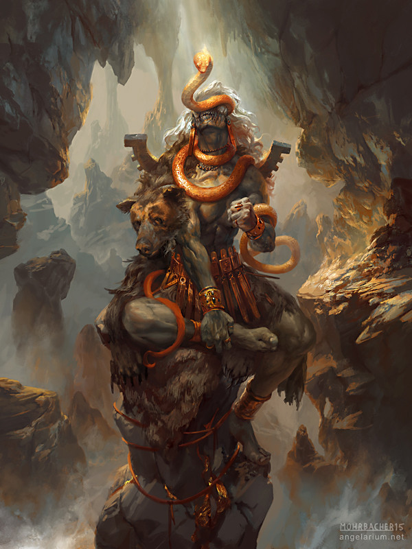 peter mohrbacher digital painting illustration Turiel Angel of the Mountain