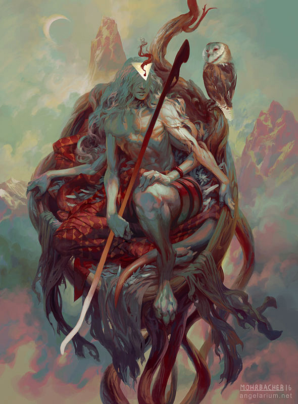 peter mohrbacher digital painting illustration Sariel Angel of the Waning Moon