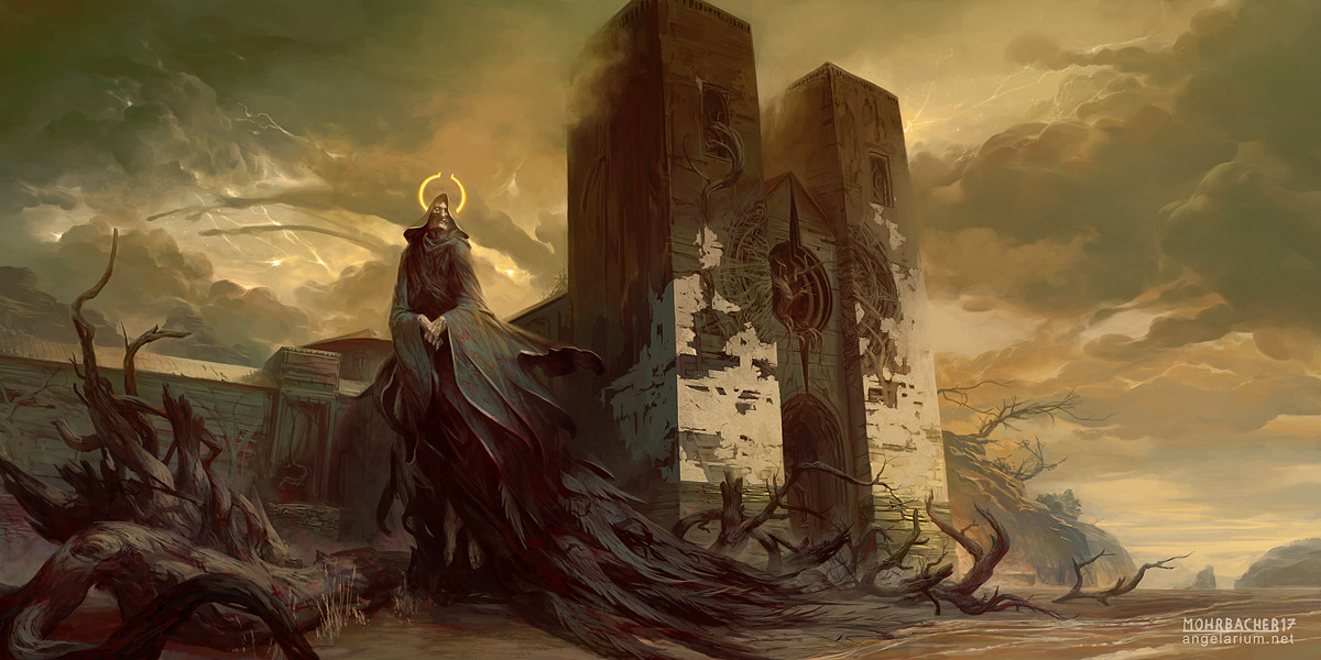 peter mohrbacher digital painting illustration The Driftwood Cathedral