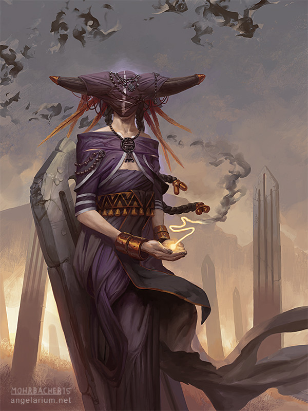 peter mohrbacher digital painting illustration Penemue Angel of the Written Word